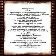"Poem~ ""Stunning Woman"""